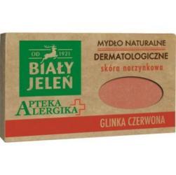 Biały Jeleń Apteka Alergika mydło naturalne 125g Glinka czerwona