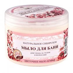 Receptury Babuszki Agafii naturalne mydło kwiatowe 500ml