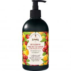 Receptury Babuszki Agafii mydło w płynie owoce leśne 500ml