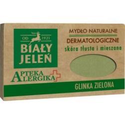 Biały Jeleń Apteka Alergika mydło 125g Glinka zielona