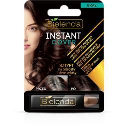 Bielenda Instant Cover brązowy sztyft na odrosty i włosy siwe