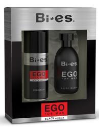 Bi-es zestaw kosmetyków EGO Black (woda toaletowa+deo)