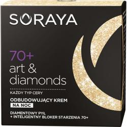 Soraya Art&Diamonds 70+ krem przeciwzmarszczkowy obudowujący na noc 50ml