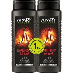 Apart żel pod prysznic męski duo Energy Man 500ml