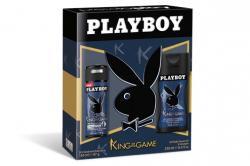 Playboy zestaw King of the Game żel pod prysznic 250ml + dezodorant 150ml