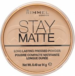 Rimmel Stay Matte puder prasowany 001 Transparent