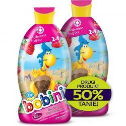 Bobini szampon i płyn do kąpieli Malinowa frajda duopak 2x400ml