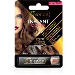 Bielenda Instant Cover jasno brązowy sztyft na odrosty i włosy siwe