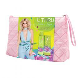 C-THRU zestaw Lime Magic woda toaletowa 50ml + dezodorant 150ml + kosmetyczka