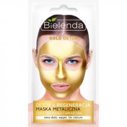 Bielenda maska metaliczna regenerująca gold detox 8g