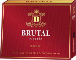 Brutal zestaw upominkowy Classic Intense woda + deo