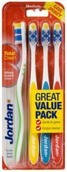 Jordan Total Clean średnie szczoteczki do zębów 4 sztuki