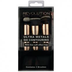 Revolution pędzle do konturowania Ultra Metals Go Contouring