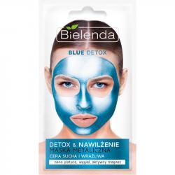 Bielenda maska metaliczna nawilżająca blue detox 8g