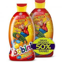 Bobini szampon i płyn do kąpieli o zapachu oranżady duopak 2x400ml