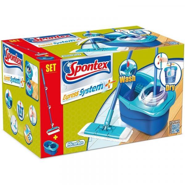 Spontex Express System mop rotacyjny płaski z wiadrem