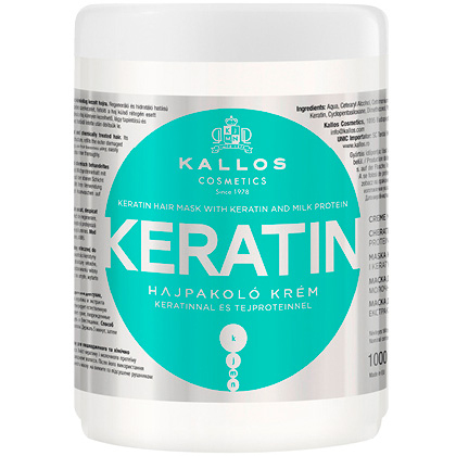 Nowoczesna architektura Kallos maska Keratin do włosów suchych i łamiących się 1000ml BU89
