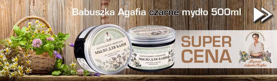 Babuszka Agafia czarne mydło 500ml