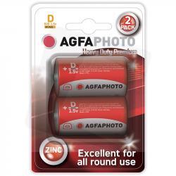 AgfaPhoto baterie cynkowe D R20 1,5V 2szt