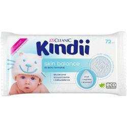 Cleanic Kindii Chusteczki dla dzieci i niemowląt 72 sztuki Skin Balance