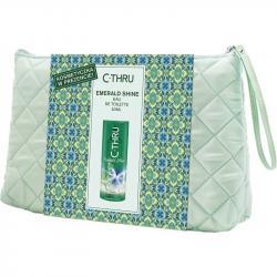 C-THRU zestaw Emerald Shine woda toaletowa 50ml + kosmetyczka