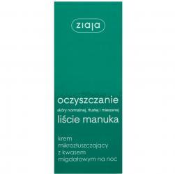 Ziaja Liście Manuka - oczyszczanie krem mikrozłuszczający 50ml