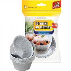 Jan Niezbędny foremki aluminiowe do muffinek 10 sztuk