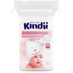 Cleanic Kindii Płatki dla niemowląt bawełniane 60 sztuk 9,5x 11cm