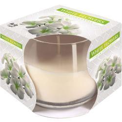 Bispol świeca zapachowa w szkle białe kwiaty 1szt