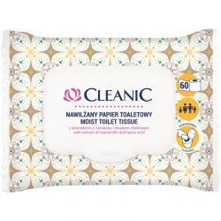 Cleanic papier toaletowy nawilżany 60 sztuk