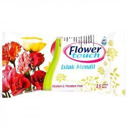 Flower Touch chusteczki nawilżane 15 sztuk