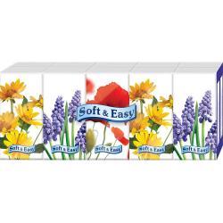 Soft & Easy chusteczki 3-warstwowe 10x9 sztuk Kwiaty