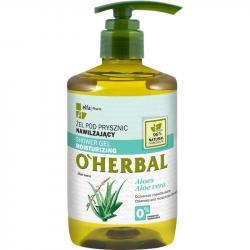 O Herbal żel pod prysznic nawilżający 750ml Aloes