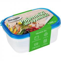 Grosik pojemnik do żywności plastikowy 1400ml 2 sztuki