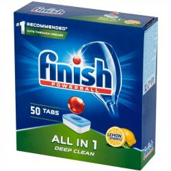 Finish All In 1 tabletki do zmywarek 50 sztuk Lemon