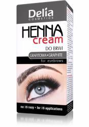 Delia Henna Cream do brwi i rzęs grafitowa