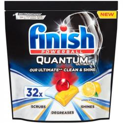 Finish Quantum Ultimate tabletki do zmywarek 32 sztuki Lemon