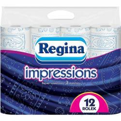 Regina papier 3-warstwowy Impressions 12 sztuk Niebieski