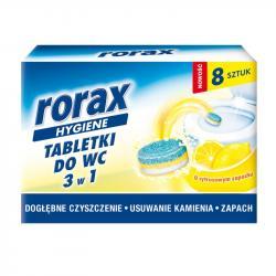 Rorax tabletki do wc 3w1 8 sztuk