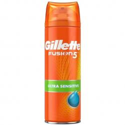 Gillette Fusion 5 Ultra Sensitive żel do golenia 200ml chłodzący