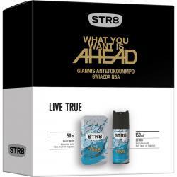 STR8 zestaw Live True woda toaletowa 50ml + dezodorant 150ml