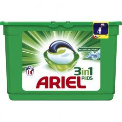 Ariel kapsułki do prania 3w1 14 sztuk Mountain Spring