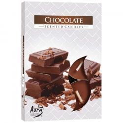 BISPOL świece zapachowe 6szt czekolada
