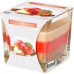 Bispol świeca zapachowa trójkolorowa Jabłko-cynamon