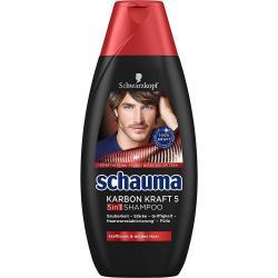 Schauma szampon 400ml MEN Karbon Kraft