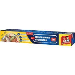 Jan Niezbędny folia aluminiowa z papierem do pieczenia 5m