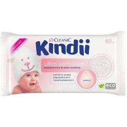 Cleanic Kindii Chusteczki dla dzieci i niemowląt 60 sztuk Sensitive