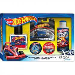 Bi-es Hot Wheels zestaw Winning woda + żel pod prysznic + naklejki + samochodzik