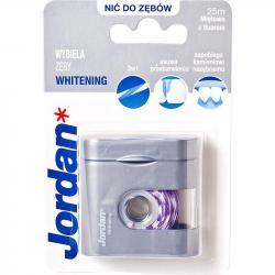 Jordan Whitening 25m wybielająca nić do zębów z fluorem