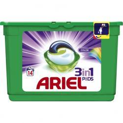 Ariel kapsułki do prania 3w1 14 szt. do kolorów